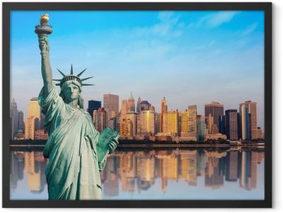 New York statue de la Liberté Framed Poster