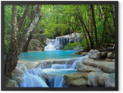 Erawan Waterfall, Kanchanaburi, Thailand Framed Poster