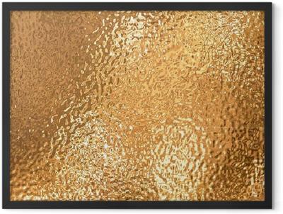 a very large sheet of fine crinkled gold aluminium foil Framed Poster