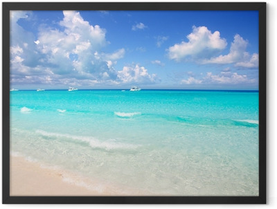 Illetes Formentera East beach tropical turquoise Framed Poster