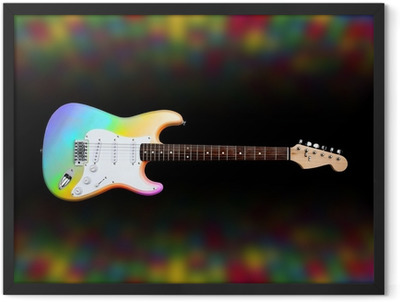 colorful electric guitar Framed Poster