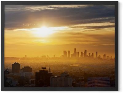 Los Angeles sunrise Framed Poster