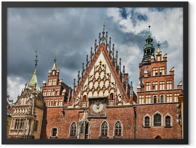 The City Hall, Wroclaw, Poland Framed Poster