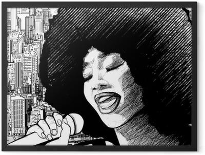 jazz singer Framed Poster