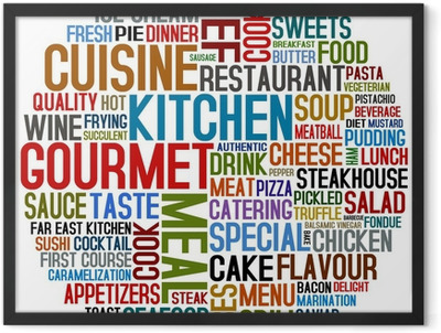 gourmet and cuisine Framed Poster