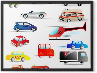 kraftfahrzeuge - set Framed Poster