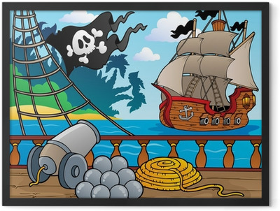 Pirate ship deck theme 4 Framed Poster