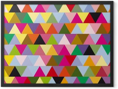 triangles Framed Poster