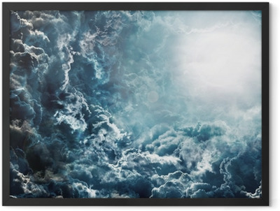 dark sky with moon Framed Poster