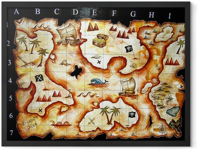 treasure map game Framed Poster