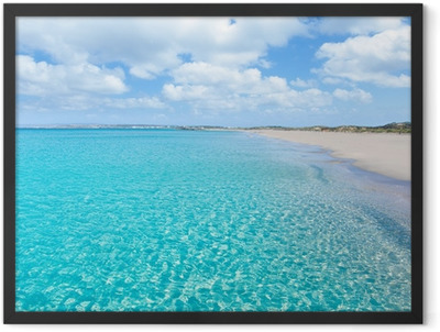Formentera Llevant tanga turquoise beach Framed Poster
