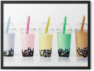 Bubble Tea in a row Framed Poster