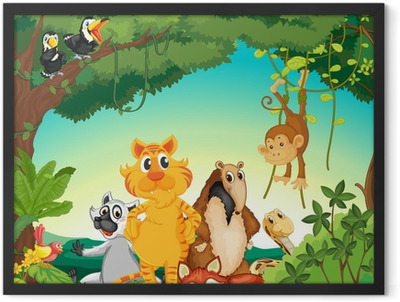 Animals in the forest Framed Poster