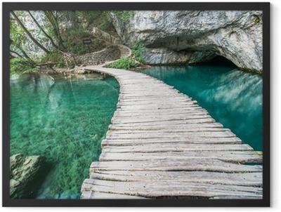 Ponte di Plitvice Framed Poster