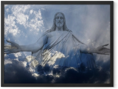 Jesus and Light Framed Poster