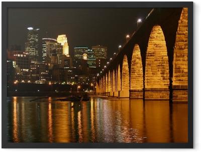 Stone Arch Bridge, Minneapolis Minnesota Framed Poster