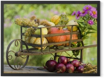 Thanksgiving - Erntedank Framed Poster
