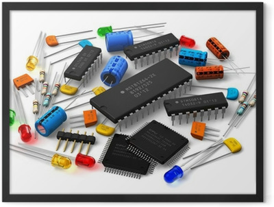 Electronic components Framed Poster