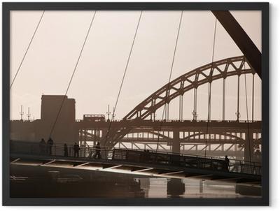 The Millenium and Tyne Bridges. Newcastle Upon Tyne. Framed Poster