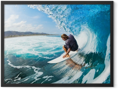 Surfing Framed Poster