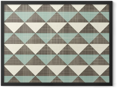 retro geometric triangles seamless pattern Framed Poster