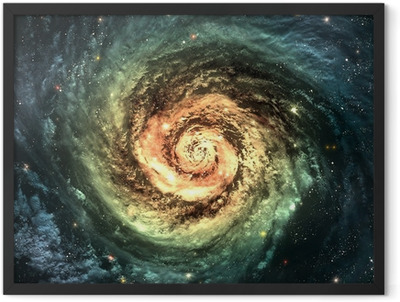Incredibly beautiful spiral galaxy somewhere in deep space Framed Poster