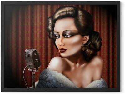 Vintage female singer Framed Poster