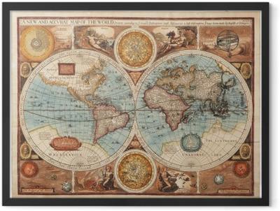 Old map (1626) Framed Poster