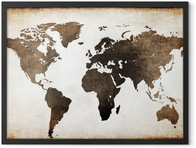Old world map Framed Poster