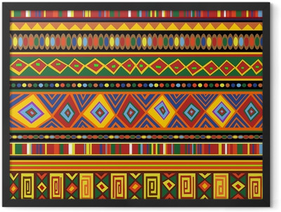 Ethnic Colorful Pattern Africa Art-Etnico Colori Arte Africa Framed Poster