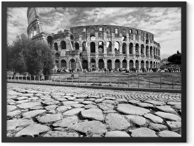 The Majestic Coliseum, Rome, Italy. Framed Poster