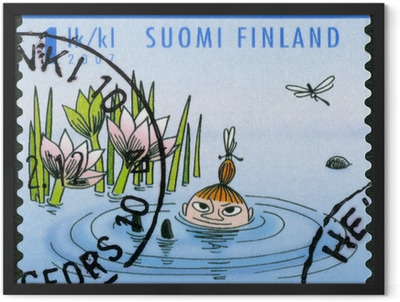 FINLAND - 2007: shows Mymble's daughter, Moomin characters Framed Poster