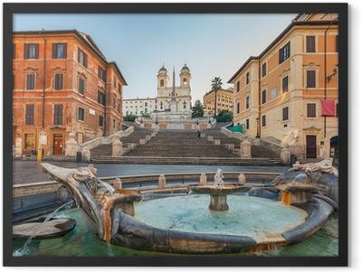 Spanish Steps at morning, Rome Framed Poster