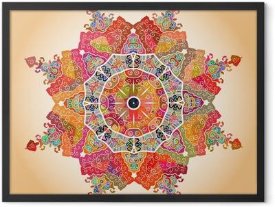 Oriental mandala motif Framed Poster