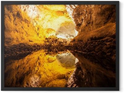 Cueva de los Verdes in Lanzarote Framed Poster