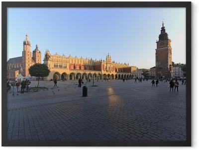 Piazza centrale di Cracovia Framed Poster