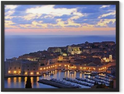 Old Harbour at Dubrovnik, Croatia Framed Poster