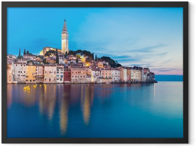 Coastal town of Rovinj, Istria, Croatia. Framed Poster