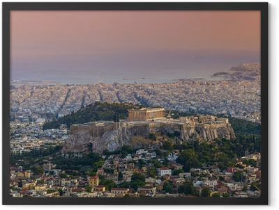 Parthenon temple on the Athenian Acropolis, Greece Framed Poster