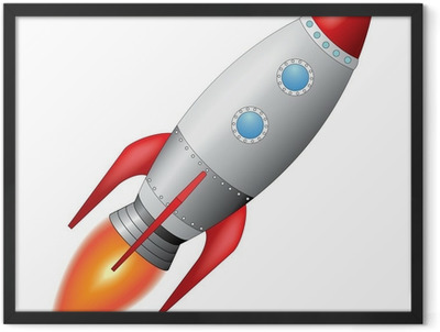 Space Rocket Framed Poster