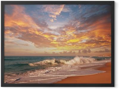 Sea sunset Framed Poster