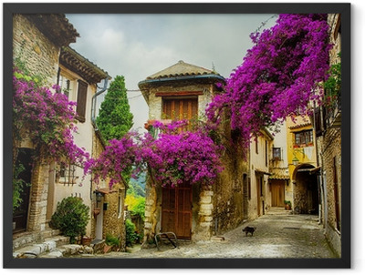 art beautiful old town of Provence Framed Poster