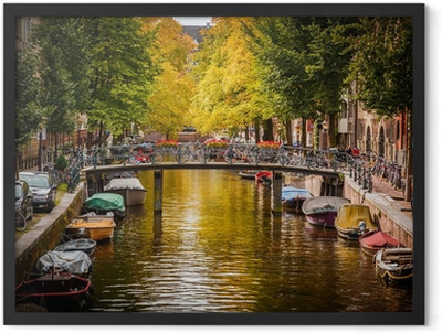 Canal in Amsterdam Framed Poster