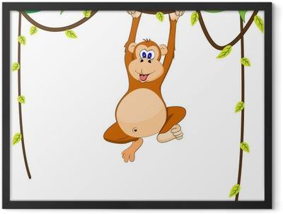 cute monkey Framed Poster