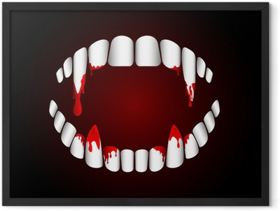 Vampire teeth Framed Poster
