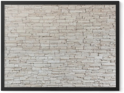 White Stone Tile Texture Brick Wall Framed Poster