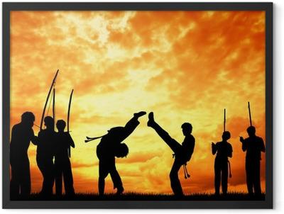 Capoeira at sunset Framed Poster