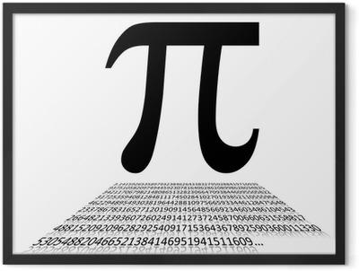 Pi number and sign Framed Poster