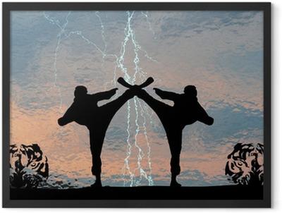 Karatethunder Framed Poster