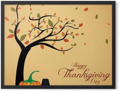 Thanksgiving day Framed Poster